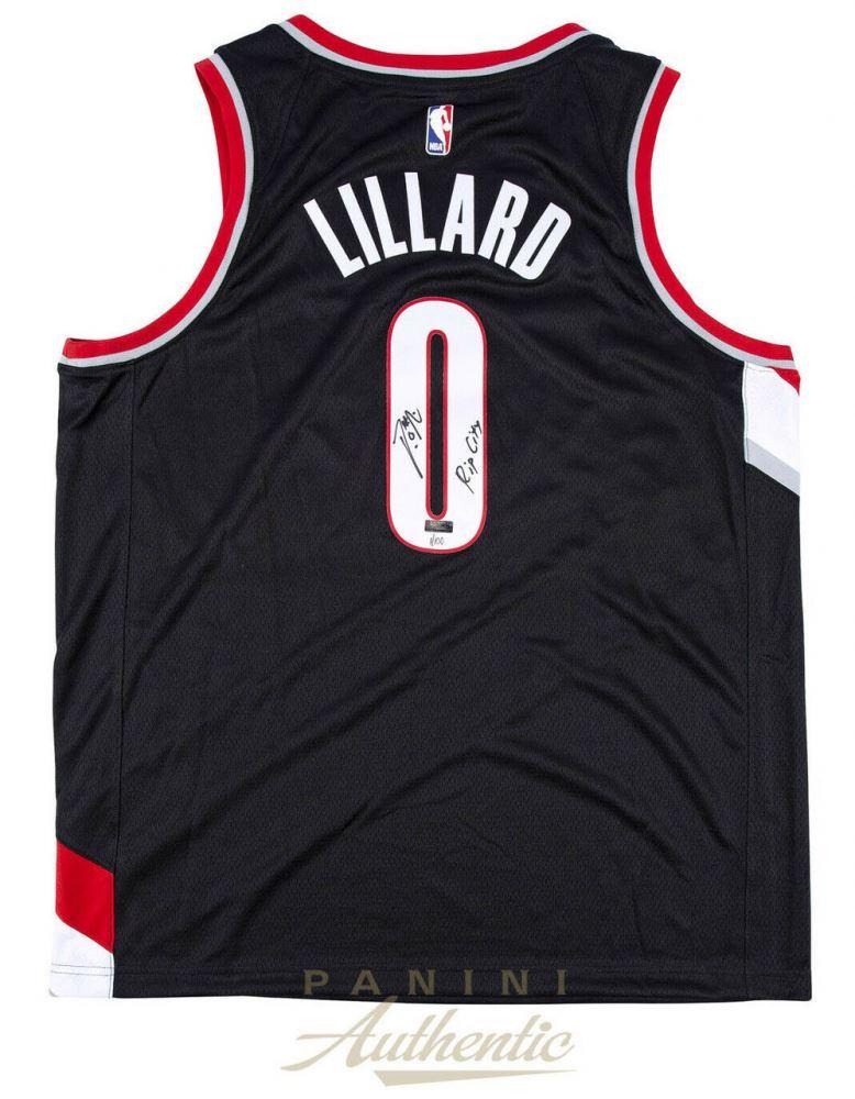e6683f867 Image 1   Damian Lillard Signed LE Portland Trail Blazers Nike Jersey  Inscribed