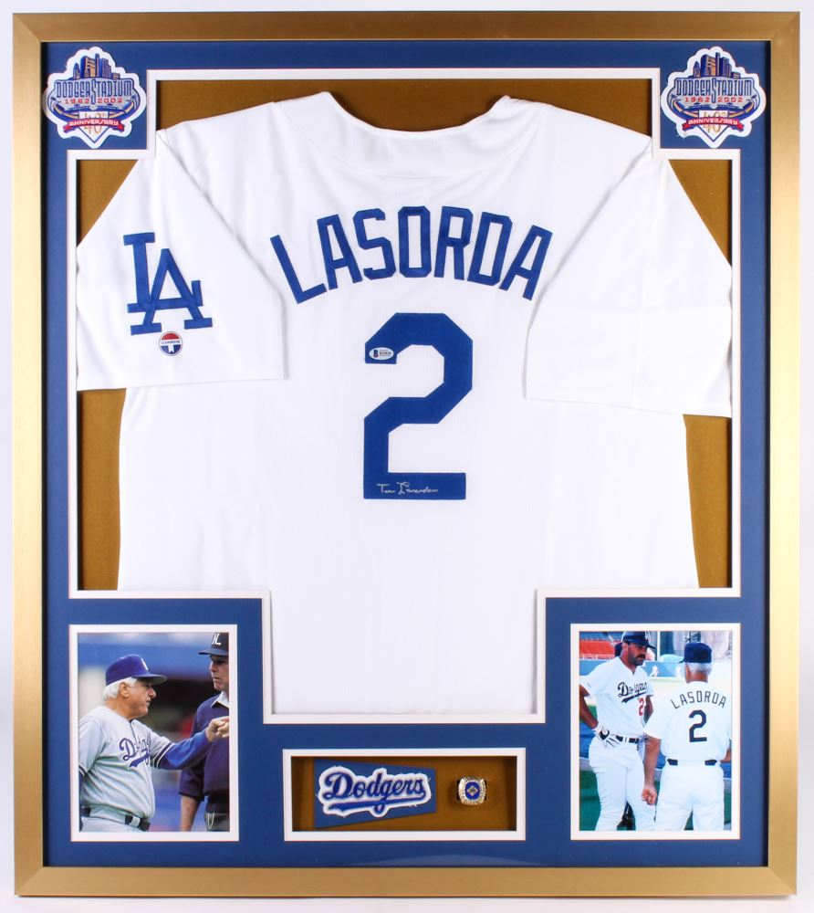 quality design e4122 22a94 Tommy Lasorda Signed Los Angeles Dodgers 32x36 Custom ...