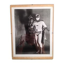 Adam West Signed B&W Photo