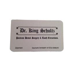Django Dr. Schultz (Christoph Waltz) Business Card Movie Props