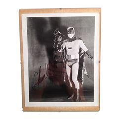 Adam West Signed B&W Photo