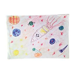 Knowing Screen Used Children's Drawings Movie Props