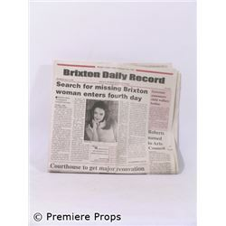 The Gift Brixton Jessica King (Katie Holmes) Daily Record Newspaper Movie Props