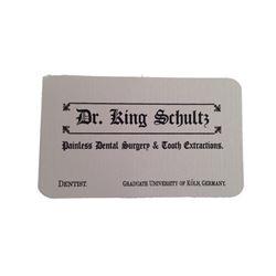 Django Dr. Schultz (Christoph Waltz) Business Card Movie Props