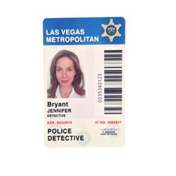 Sleepless Jennifer Bryant (Michelle Monaghan) Detective ID Badge Movie Props