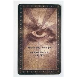 Now You See Me Screen Used Tarot Card Movie Props