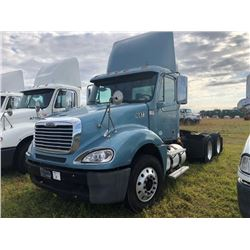 2008 FREIGHTLINER COLUMBIA TRUCK TRACTOR; VIN/SN:1FUJA6CV08LY10873 T/A, MERCEDES 460 ENGINE, 450 HP,