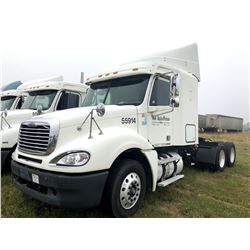 2007 FREIGHTLINER COLUMBIA TRUCK TRACTOR; VIN/SN:1FUJA6CV37LW55914 T/A, SLEEPER, MERCEDES 460 ENGINE