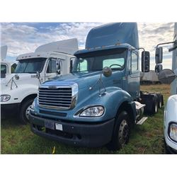 2007 FREIGHTLINER COLUMBIA TRUCK TRACTOR; VIN/SN:1FUJA6CV37LW55945 T/A, MERCEDES 460 ENGINE, 450 HP,