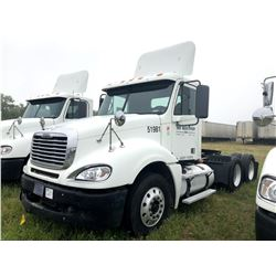 2007 FREIGHTLINER COLUMBIA TRUCK TRACTOR; VIN/SN:1FUJA6CK47LY51981 T/A, DETROIT SERIES 60 ENGINE, 43