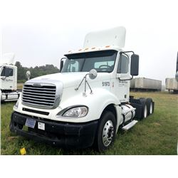 2007 FREIGHTLINER COLUMBIA TRUCK TRACTOR; VIN/SN:1FUJA6CK57LY51973 T/A, DETROIT SERIES 60 ENGINE, 43