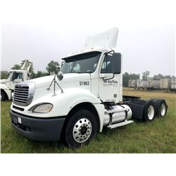 2007 FREIGHTLINER COLUMBIA TRUCK TRACTOR; VIN/SN:1FUJA6CK27LY51963 T/A, DETROIT SERIES 60 ENGINE, 43