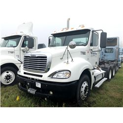 2007 FREIGHTLINER TRUCK TRACTOR; VIN/SN:1FUJA6CK77LX77682 T/A, DETROIT SERIES 60 ENGINE, 10 SPD TRAN