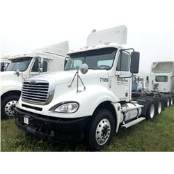 2007 FREIGHTLINER TRUCK TRACTOR; VIN/SN:1FUJA6CKX7LX77689 T/A, DETROIT, 10 SPD TRANS, 12K FRONT, 40K