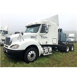 2007 FREIGHTLINER COLUMBIA TRUCK TRACTOR; VIN/SN:1FUJA6CV97LW55917 T/A, SLEEPER, MERCEDES 460 ENGINE
