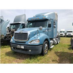 2006 FREIGHTLINER COLUMBIA TRUCK TRACTOR; VIN/SN:1FUJA6DEX6LX00697 T/A, SLEEPER, CAT C13 ENGINE , 10