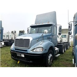 2006 FREIGHTLINER COLUMBIA TRUCK TRACTOR; VIN/SN:1FUJA6CVX6DU26560 T/A, MERCEDES 460 ENGINE, 450 HP,