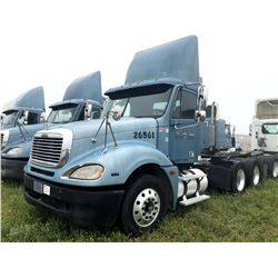 2006 FREIGHTLINER COLUMBIA TRUCK TRACTOR; VIN/SN:1FUJA6CV16DU26561 T/A, MERCEDES 460 ENGINE, 450 HP,