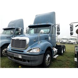 2006 FREIGHTLINER COLUMBIA TRUCK TRACTOR; VIN/SN:1FUJA6CV76DU26497 T/A ,MERCEDES 460 ENGINE, 450 HP,