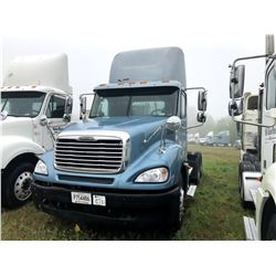 2006 FREIGHTLINER COLUMBIA TRUCK TRACTOR; VIN/SN:1FUJA6CV96DU26565 T/A, MERCEDES 460 ENGINE, 450 HP,