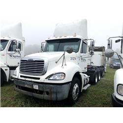 2004 FREIGHTLINER COLUMBIA TRUCK TRACTOR; VIN/SN:1FUJA6CV24LM21274 T/A, MERCEDES 460 ENGINE, 410 HP,
