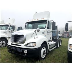 2007 FREIGHTLINER COLUMBIA TRUCK TRACTOR; VIN/SN:1FUJA6CK57LX77681 T/A, DETROIT SERIES 60 ENGINE, 43