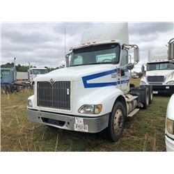 2007 INTERNATIONAL 9400I TRUCK TRACTOR; VIN/SN:2HSCNSCRX7C433260 T/A, CAT C15, 475 HP, 10 SPD TRANS,