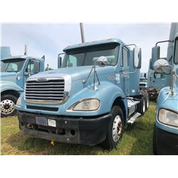2003 FREIGHTLINER COLUMBIA TRUCK TRACTOR; VIN/SN:1FUJA6AS83LK58587 T/A, CAT C12 ENGINE, 10 SPD TRANS