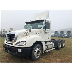 2007 FREIGHTLINER COLUMBIA TRUCK TRACTOR; VIN/SN:1FUJA6CK97LY51975 T/A, DETROIT SERIES 60 ENGINE, 43