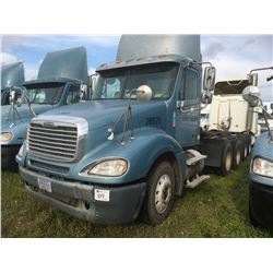 2006 FREIGHTLINER COLUMBIA TRUCK TRACTOR; VIN/SN:1FUJA6CV16DU26575 T/A, MERCEDES 460 ENGINE, 450 HP,
