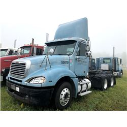 2006 FREIGHTLINER COLUMBIA TRUCK TRACTOR; VIN/SN:1FUJA6CVX6PW55870 T/A, MERCEDES 460 ENGINE, 450 HP,