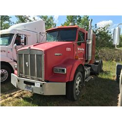 2004 KENWORTH T800 TRUCK TRACTOR; VIN/SN:1XKDDU9X04J067876 T/A, SLEEPER, CAT C12 ENGINE, 10 SPD TRAN