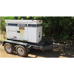 2011 MQ Power 36KW Diesel Generator, 888 Hours (Needs Repair)