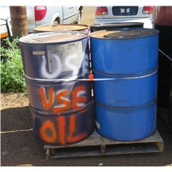 Qty 4 Empty 55-Gallon Metal Drums