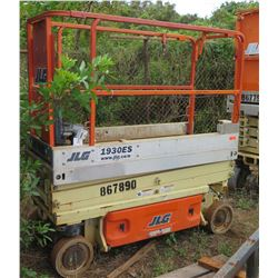 2014 JLG 1930ES Scissorlift, 19-Ft Capacity, 137 Hours (Needs Repair)
