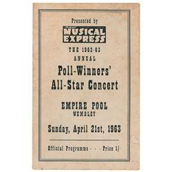Beatles 1963 New Musical Express Program