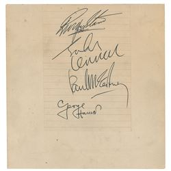 Beatles 1963 Newcastle Signatures
