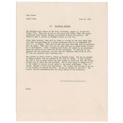 Beatles 1965 New York Arrival Instructions