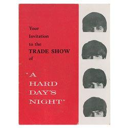 Beatles A Hard Day's Night Trade Show Invitation