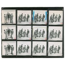 Beatles Pair of Dezo Hoffman Contact Sheets