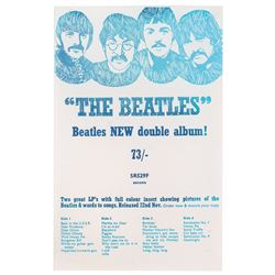 Beatles Promotional 1968 White Album Flyer