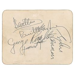 Beatles Signed 1963 Royal Command Backstage Pass