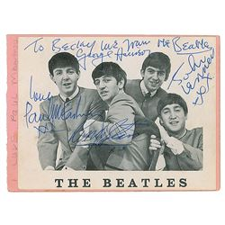 Beatles Signed Promo Card