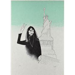 Al Hirschfeld Signed John Lennon Print