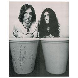 John Lennon and Yoko Ono Signed Photograph