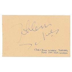John Lennon Signature