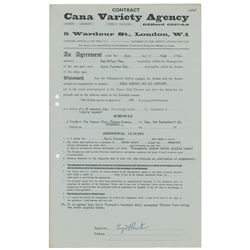Cavern Club 1962 Performance Contract