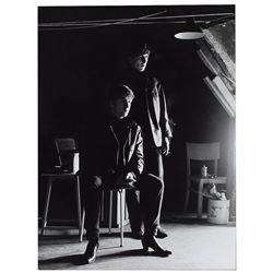 John Lennon and George Harrison Photograph by Astrid Kirchherr