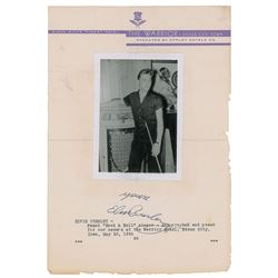 Elvis Presley Signature and Candid Photograph