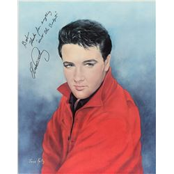 Elvis Presley Signed Print